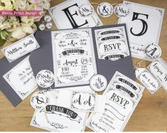 Everything you need for your wedding day in one printable set! Add real style to your event by sending a … Pocket Wedding Invitations, Printable Wedding Invitations, Custom Invitations, Invitation Design, Invitation Suite, Wedding Stationery, Invitation Cards, Boho Wedding, Rustic Wedding