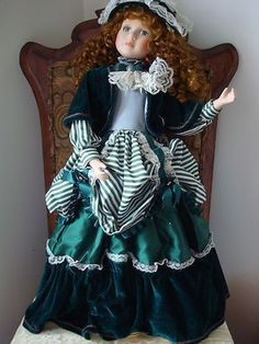 Victorian Green Beauty Doll 28 inches Tall | eBay