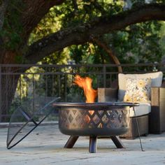 For the outdoor entertainer: Enjoy the outdoors all year-round, keeping warm and toasty next to this attractive, portable steel fire pit. | Monterey Bronze-Rubbed Steel Fire Pit | @overstock