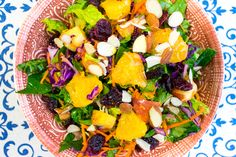 Orange Salad with Apple & Cranberries Recipe