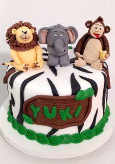 Bolo tema Safari  #bolo #bolodecorado #cake #fondant #pastaamericana #safari