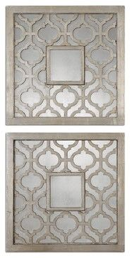 Uttermost Grace Feyock Mirror in Antiqued Silver Leaf - eclectic - Accessories And Decor - Hansen Wholesale