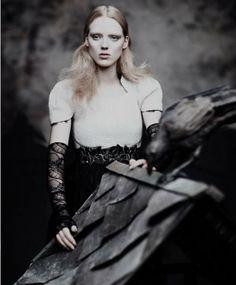 Gothic Couture Captures - The Pulp Magazine Chanel Editorial Stars Darkly Glamorous Kristen (GALLERY)