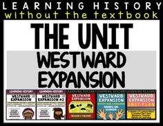 Westward Expansion: 3-Week UNIT from The Sweetest Thing on TeachersNotebook.com -  (250 pages)  - This unit includes 3-week formal lesson plans (no prep print), 12 leveled reading passages, reader's theater, hands-on activity, hands-on game, hands-on simulation, and set of guided notes.