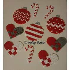 Christmas hama beads by malins.parlor More by margarita Beaded Christmas Decorations, Christmas Perler Beads, Christmas Crafts, Pony Bead Patterns, Bead Crochet Patterns, Beading Patterns, Seed Bead Bracelets Tutorials, Making Bracelets With Beads, Pinboard Diy