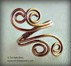 Easy Adjustable Spiral Ring Tutorial... could just go off this too. Just change circumference