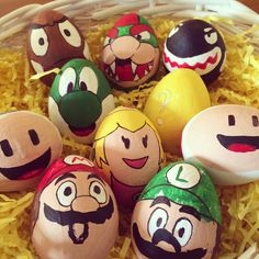 Super mario bros Easter eggs done with my stepson. Success!