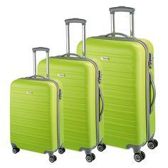 #Kofferset d&n Travel Line 9400 bei Koffermarkt: ✓Hartschale aus ABS ✓Farbe: limettengrün ✓4 Rollen ✓3-teilig ✓TSA-Schloss ⇒Jetzt kaufen