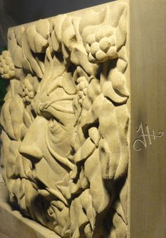 Ivy Green Man Relief - Side