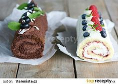 cz - My site Cake Roll Recipes, Rolls Recipe, Cheesecake, Food And Drink, Pudding, Yummy Food, Sweets, Cookies, Swiss Rolls