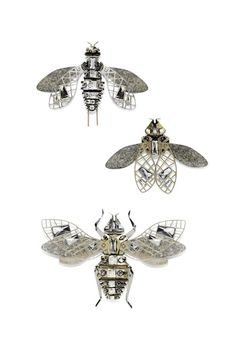 lanvin insect brooches