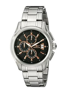 Men's Wrist Watches - Invicta Mens 1483 Specialty Collection Chronograph Black Dial Watch >>> Click image to review more details.