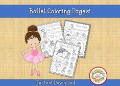 "Six ballet-themed color pages. Instant download! Print as many times as you wish! Great for dance studios and recitals! Print for use. PLEASE NOTE: There is NO personalization for this product. The ""personalization"" area is for customers to acknowledge that nothing is shipped to a physical address Learning To Write, Learning Resources, Fun Learning, Teacher Resources, Teaching Ideas, Name Tracing Worksheets, Abc Worksheets, Learn To Spell, Learn To Count"