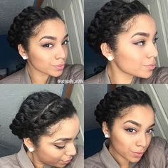flat twist protective natural hairstyle by @actually_ashly