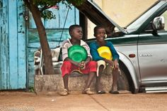 Hanging with my mate. Conakry, Guinea.