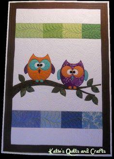 "Quilt Pattern ""OWL DUET""  - Raw Edge Fusible Applique - PDF - Download - Tutorial on Etsy, $7.15 AUD"