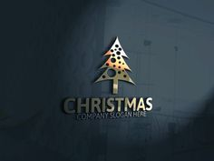 Christmas Tree Logo by Josuf Media on Creative Market