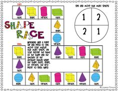 Shapes Race - Lesson in 3D Shapes