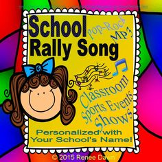 A School Rally Pop-Rock Song--PERSONALIZED with YOUR SCHOOL's NAME IN EVERY CHORUS! Ideal for back-to-school, classroom sing-along, assembly shows, graduation, dance festivals, sports events, ceremonies, video productions, school dances, daily aerobics, and more…Includes a KARAOKE version.
