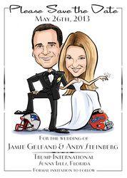 Ilrate The Date Save Wedding Invitations Caricature Cartoon Dates
