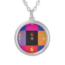 Vote Donald Trump for President 2016 Pop Art Round Pendant Necklace