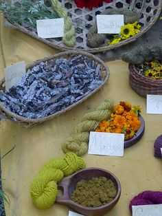 Natural dyes and their results at the Johnny Appleseed festival