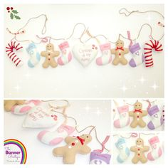 Festive felt christmas decorations garland by The Banner Boutique