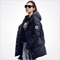 >> Click to Buy << Heyouthoney fashion Korean women winter long plus size M-2XL warm epaulet wadded cotton slim hooded coats jackets parkas outwear #Affiliate