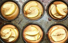 brown butter, apple and nutmeg cakes - refined sugar free - petite kitchen