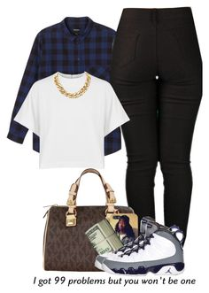 """""""Untitled #223"""" by mindlesssweetheart4life ❤ liked on Polyvore featuring Monki, dVb Victoria Beckham, MICHAEL Michael Kors, Retrò, women's clothing, women, female, woman, misses and juniors"""