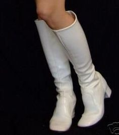 The envy of every young girl....white GoGo boots