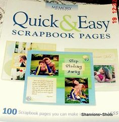 QUICK & EASY SCRAPBOOKING BOOK 100 ILLUSTRATED PAGES
