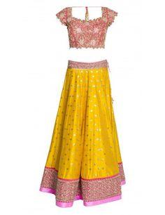 Anushree Reddy's Yellow and Pink Lehenga Set
