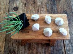 Handmade Small Industrial Concrete Diamonds Set of 6