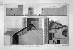 Plan and Cross Section of the First Tavern by Giovanni Battista Piranesi