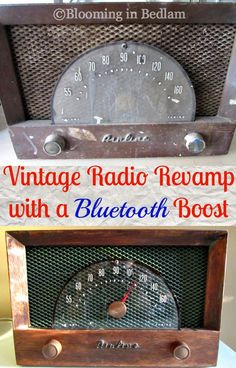 Vintage Radio Bluetooth Boost -- use an old radio as a bluetooth speaker for your phone!  This would cool with the old radio at my parents old house. Hope they don't trash it!