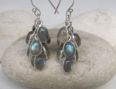 Grape Labradoite Earrings- Silver Labradorite Earrings- Stone Earrings- Dangle Earrings- Gemstone Earring on Etsy, $98.99