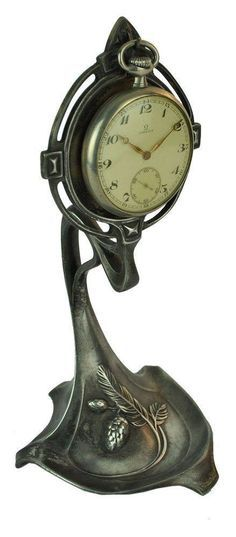Active Antique French Bronze Dore Watch Stand With Birds Porte Montre Sturdy Construction Other Antique Decorative Arts