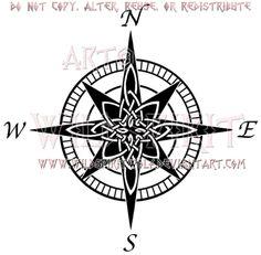 Celtic Compass Rose Design by WildSpiritWolf.deviantart.com on @deviantART
