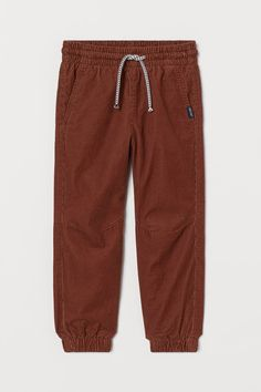 Corduroy joggers - Rust brown - Kids | H&M GB 2 Fitted Joggers, Hello Autumn, Fashion Company, Drawstring Waist, World Of Fashion, Style Guides, Corduroy, Your Photos, Online Price