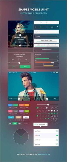 95+ Best Photoshop Free PSD UI Kits