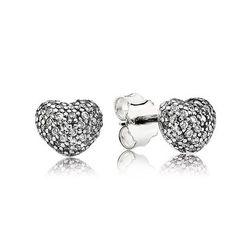 In My Heart Pavé Stud Earrings, Clear CZ