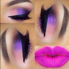 maquillaje ojos rosa lila - Buscar con Google