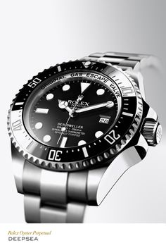Rolex Deepsea 44 mm in 904L steel with rotatable graduated bezel, black dial and Oyster bracelet. #RolexOfficial