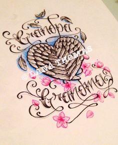 Grandparent memorial tattoo