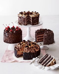 """Ma Cherie"" Black Forest Cake - Neiman Marcus ~ Who wouldn't love to open their door to one of these gourmet cakes?"