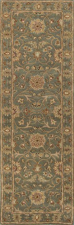 Jaipur Rugs Transitional Oriental Pattern Green/Red Wool Area Rug PM05 (Runner)