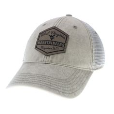 promo code 4b27d f7d08 No West Virginia Mountaineers game is complete without the new WVU Stone  Washed Denim Trucker hat