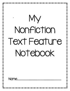 This is a great way to teach Non-Fiction text features in your classroom! The children will be actively engaged in your lessons and will take pride in their notebooks. This notebook includes 15 amazing pages (one for each text-feature)!   Please leave feedback for your FREEBIE. THANKS! Jamie Kinsey