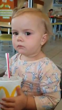 Little girl tries Coke for the first time.  - GIF on Imgur